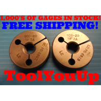 1/2 20 NF 2A THREAD RING GAGES .5 GO NO GO P.D.'S = .4662 & .4619 INSPECTION