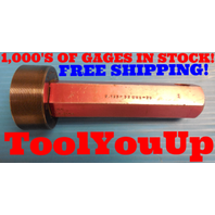 2 1/8 32 UNS 2B THREAD PLUG GAGE GO ONLY 2.125 P.D.= 2.1047 INSPECTION TOOLING