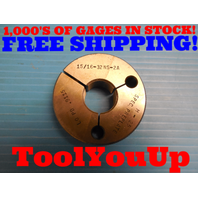 15/16 32 NS 2A PRE-PLATE THREAD RING GAGE NO GO ONLY P.D. = .9115 INSPECTION