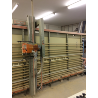 1265 HOLZ HER SUPERCUT VERTICAL PANEL SAW 6' X 14' 1986 WITH DUST COLLECTOR