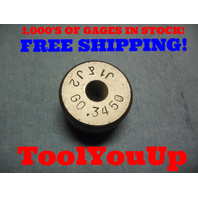 .3450 SMOOTH BORE RING GAGE .34375 + .00125 UNDERSIZE 11/32 TOOLING INSPECTION