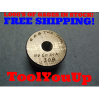 .308 SMOOTH PLAIN BORE RING GAGE .296875 + .011125 UNDERSIZE 19/64 TOOLING TOOL