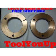M100 X 12 NS 3 THREAD RING GAGES 100.0 12.0 GO NO GO P.D.'S = 3.8639 & 3.8565