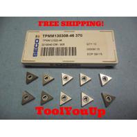 10 PCS NEW SECO TPMM 130308 46 370 2.522 2019340036 CARBIDE INSERTS CNC LATHE