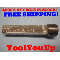 1 5/16 12 UNJ 3B PRE PLATE THREAD PLUG GAGE 1.3125 GO ONLY P.D. = 1.2604 TOOLING