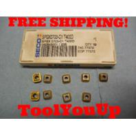 9 PCS NEW SECO SPGX 0703 C1 T400D 060543001 /235 CARBIDE INSERTS CNC MILL LATHE
