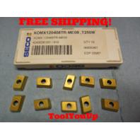 10 PCS NEW SECO XOMX 120408 TR ME 08 T250 4243026001 / 818 TURNING INSERTS