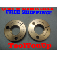 1 1/2 32 NS 3 THREAD RING GAGES 1.50 GO NO GO P.D.'S = 1.4797 & 1.4767 TOOL