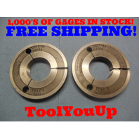 1.5720 48 NS 2A THREAD RING GAGES 1.572 GO NO GO P.D.'S =1.5585 & 1.5541 TOOL