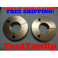 1 21/32 32 NS 3 THREAD RING GAGES 1.6562 GO NO GO P.D.'S = 1.6359 & 1.6317 TOOL