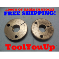 1 5/32 36 NS 3 THREAD RING GAGES 1.156200 GO NO GO P.D.'S = 1.1382 & 1.1342 TOOL