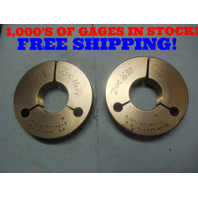 1.512 32 NS 3 THREAD RING GAGES 1.5120 GO NO GO P.D.'S = 1.4917 & 1.4875 TOOL