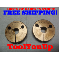 5/8 40 NS 2 THREAD RING GAGES .625 GO NO GO P.D.'S = .6088 & .6050 TOOL TOOLING