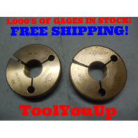 7/8 48 NS 2 THREAD RING GAGES .875 GO NO GO P.D.'S = .8606 & .8575 TOOL TOOLING