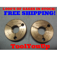 .968 UNS 3A THREAD RING GAGES GO NO GO P.D.'S = .9477 AND .9449 TOOL TOOLING
