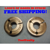 .968 32 NS 3A THREAD RING GAGES GO NO GO P.D.'S = .9477 & .9449 TOOL TOOLING
