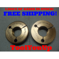 1 1/8 32 NS 2 THREAD RING GAGES 1.125 GO NO GO P.D.'S = 1.1047 AND 1.1000 TOOL