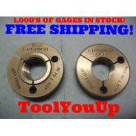 1 1/8 16 UN 2A DOUBLE LEAD THREAD RING GAGES 1.125 GO NO GO PDS = 1.0829 1.0779
