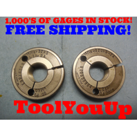 15/16 32 NS 2A THREAD RING GAGES .9375 GO NO GO P.D.'S = .9160 & .9127 TOOLING