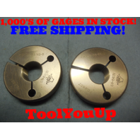 29/32 36 NS 3 THREAD RING GAGES .9062 GO NO GO P.D.'S = .8882 & .8857 TOOLING
