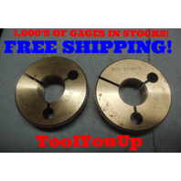 .820 32 NS 3 THREAD RING GAGES GO NO GO P.D.'S = .7997 & .7970 INSPECTION TOOL