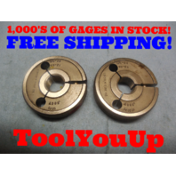 5/8 28 UN 2A THREAD RING GAGES GO NO GO P.D.'S = .6007 & .5969 INSPECTION TOOL