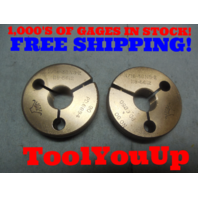 11/16 36 NS 2 THREAD RING GAGES .6875 GO NO GO P.D.'S = .6684 & .6650 INSPECTION