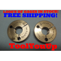 15/16 32 NS 3 THREAD RING GAGES .93750 GO NO GO P.D.'S = .9172 & .9144 INSPECTION TOOL