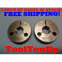 3/4 20 NS 3 THREAD RING GAGES .750 GO NO GO P.D.'S = .7175 & .7145 INSPECTION