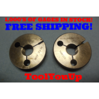 11/16 24 UNEF 2A THREAD RING GAGES .6875 GO NO GO P.D.'S = .6592 & .6552 TOOL