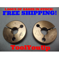 11/16 36 NS 2 THREAD RING GAGES .68750 GO NO GO P.D.'S = .6684 & .6650 TOOL