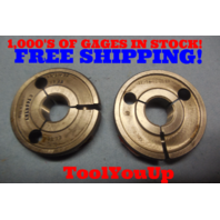 11/16 32 NS 2A THREAD RING GAGES .68750 GO NO GO P.D.'S =  .6672 & .6632 TOOL