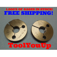 .703 40 NS SPECIAL THREAD RING GAGES .7030 GO NO GO P.D.'S =  .6858 & .6804 TOOL