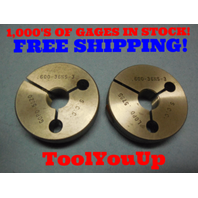 .600 36 NS 3 THREAD RING GAGES .6 GO NO GO P.D.'S =  .5820 & .5795 TOOLING TOOL