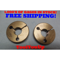 .7960 36 NS 3 THREAD RING GAGES .796 GO NO GO P.D.'S = .7780 & .7754 TOOLING