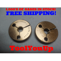 9/16 24 NEF 3 THREAD RING GAGES .562 GO NO GO P.D.'S = .5354 & .5325 TOOLING