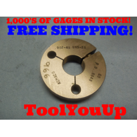 .902 40 UNS 2A THREAD RING GAGE .9020 GO ONLY P.D. = .8848 TOOLING INSPECTION