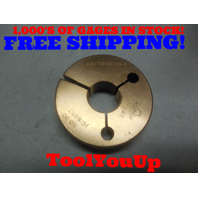 29/32 36 NS 3 THREAD RING GAGE .9062 NO GO ONLY P.D. = .8857 TOOLING INSPECTION