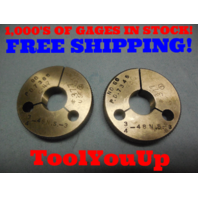 3/4 48 NS 3 THREAD RING GAGES .750 GO NO GO P.D.'S = .7365 & .7345 TOOLING