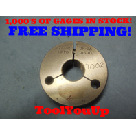 7/8 32 UN 2A THREAD RING GAGE .875 NO GO ONLY P.D. = .8500 TOOLING INSPECTION