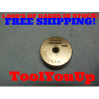 1/4 28 SS THREAD RING GAGE .250 28.0 GO ONLY P.D. = .2265 TOOLING TOOL TOOLS