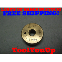 7/16 28 THREAD RING GAGE .4375 28.0 TOOLING TOOL TOOLS MACHINE SHOP
