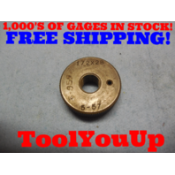 1/2 28 THREAD RING GAGE .50 28.0 TOOLING TOOL TOOLS MACHINE SHOP INSPECTION