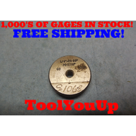 1/4 28 THREAD RING GAGE GO ONLY .25 28.0 P.D.= .2281 TOOLING TOOL MACHINE SHOP