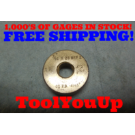 7/16 28 NEF 2 LEFT HAND THREAD RING GAGE GO ONLY .4375 28.0 P.D.= .4143 TOOLING