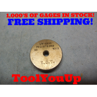 1/4 28 SS THREAD RING GAGE GO ONLY .25 28.0 P.D.= .2281 TOOLING TOOL INSPECTION