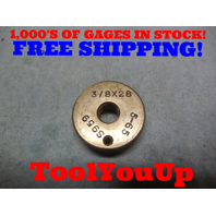 3/8 28 THREAD RING GAGE .4375 28.0 TOOLING TOOL INSPECTION MACHINE SHOP TOOLS