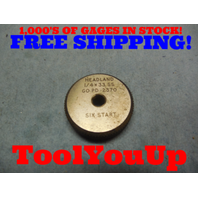 1/4 33 SS THREAD RING GAGE GO ONLY .25 33.0 P.D.'S = .2360 TOOL INSPECTION TOOLS