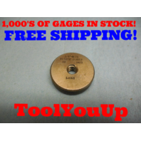 3/8 16 SS THREAD RING GAGE .375 GO ONLY P.D. = .3379 TOOL INSPECTION TOOLS