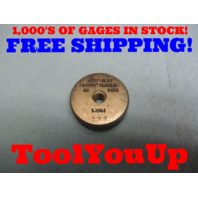 9/32 18 SS CLASS Z THREAD RING GAGE .28125 GO ONLY P.D. = .2379 TOOL INSPECTION MACHINE SHOP